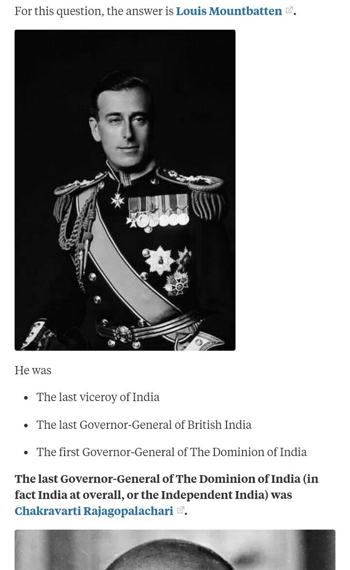 mention the name of the first governor general and the last