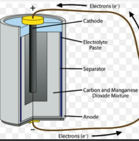 Describe electric cell? Draw the diagram and label the ...