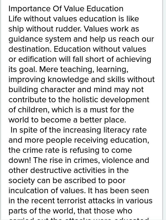 importance of education speech