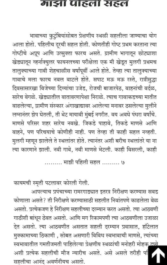 essay on mazi sahal in marathi - Brainly in