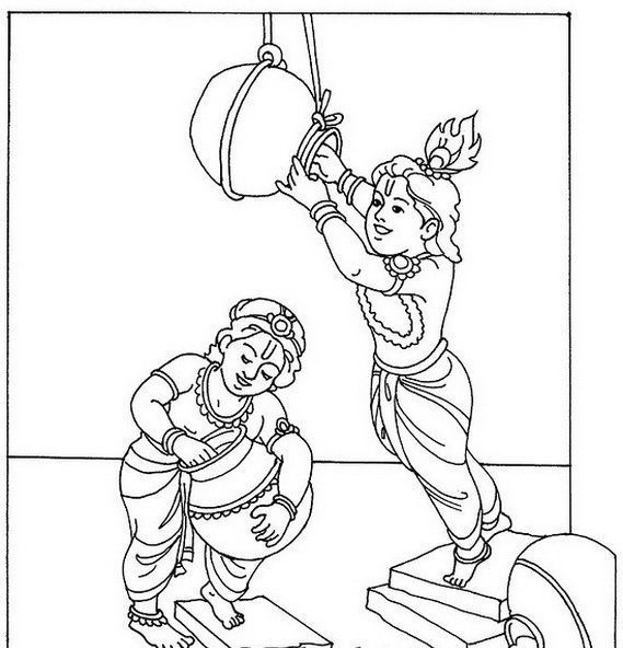 I Want Drawings For Janmashtami Easy And Beautiful Lord Krishna Brainly In