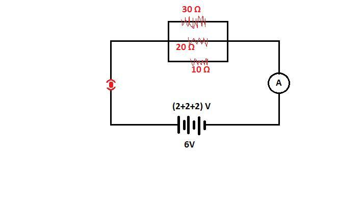 Draw Schematic Diagram Of A Circuit Consisting Of A Battery Of Three Cells Of 2v Each  A 10 Ohm