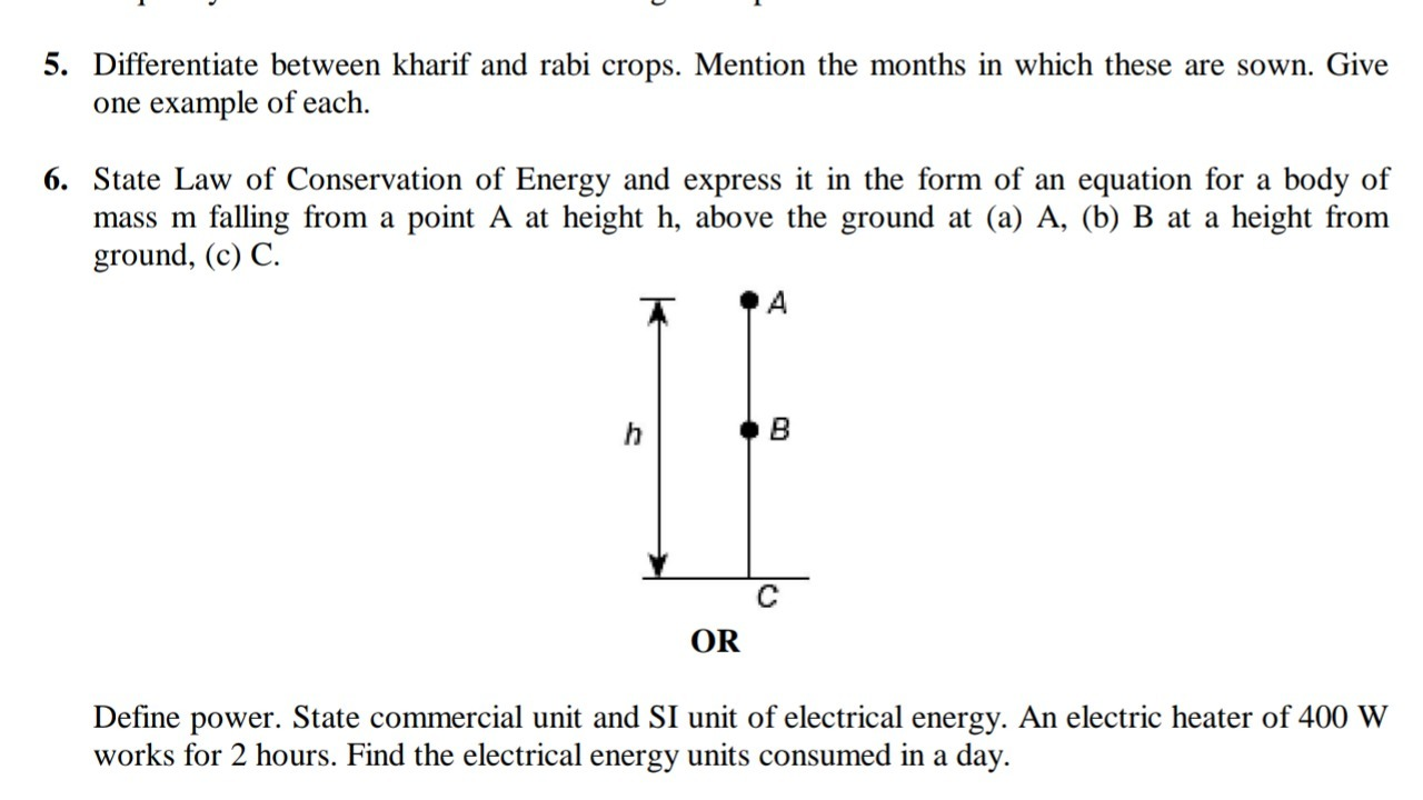 State Law Of Conservation Of Energy And Express It In The Form Of An