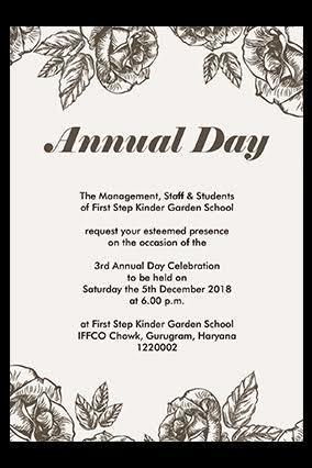 Prepare an invitation for ur college annual day - Brainly in