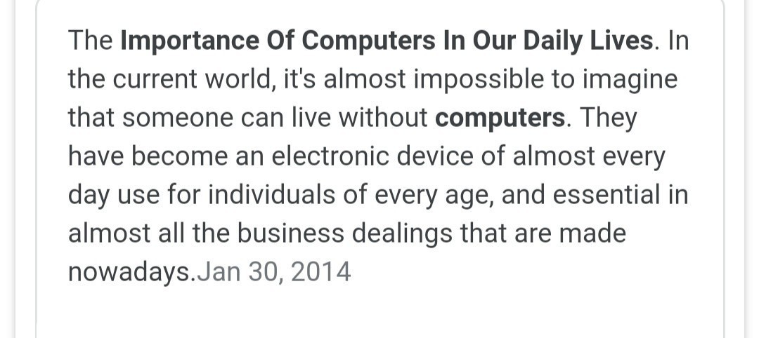 computer and its importance