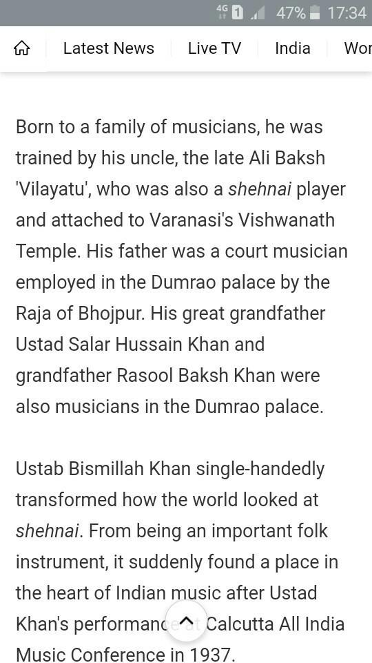 how has Bismillah Khan made Shehnai so popular - Brainly in
