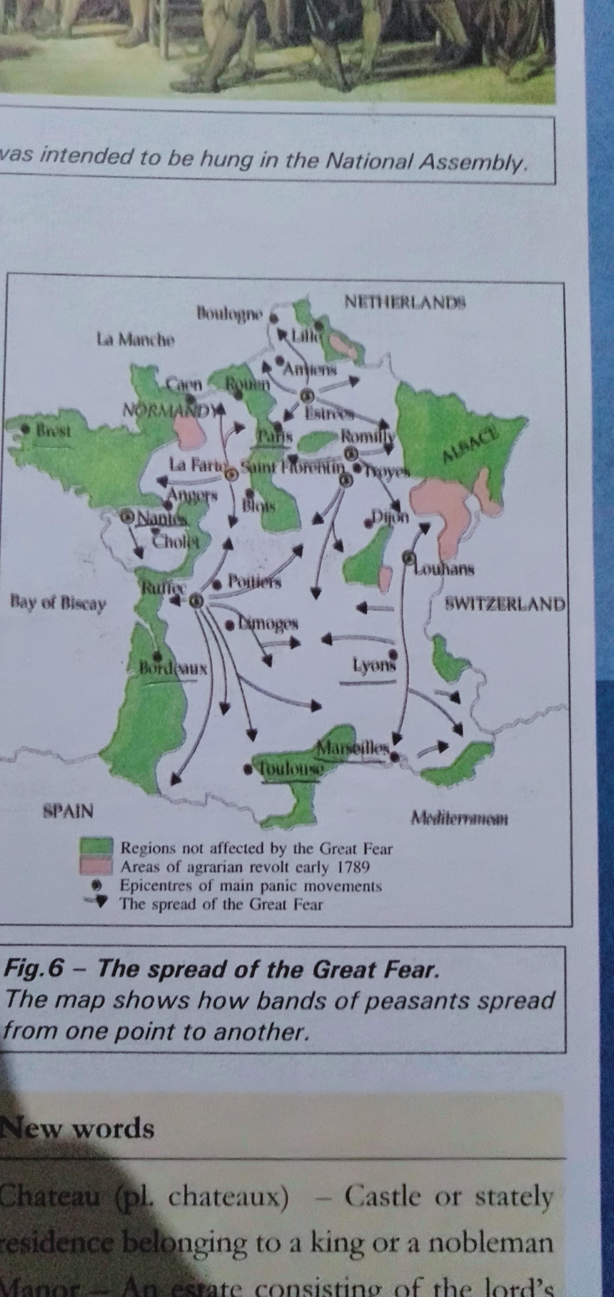 Clear Map Of France.I Want A Clear Image Of The Spread Of Great Fear Map From Class
