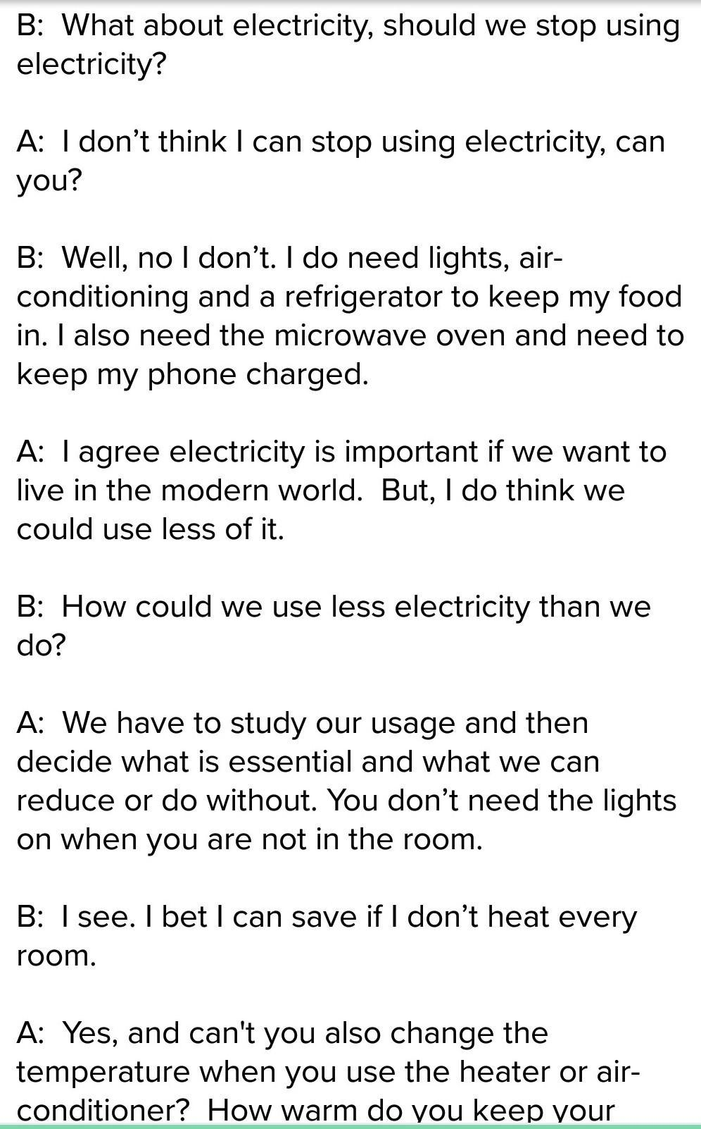 write a dialogue between two friends on frequent power failure