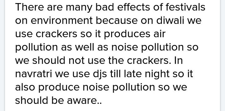 bad effects of various festivals on the environment