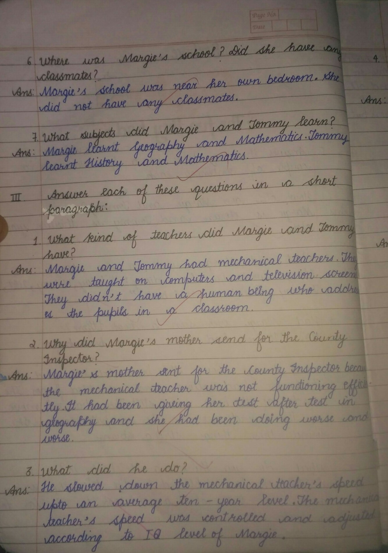 English question answer the fun they had chapter - Brainly in