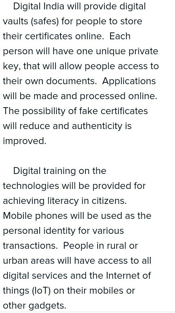 Write an essay in about 180 words on digital india brainly in
