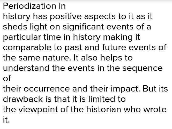 periodization essay