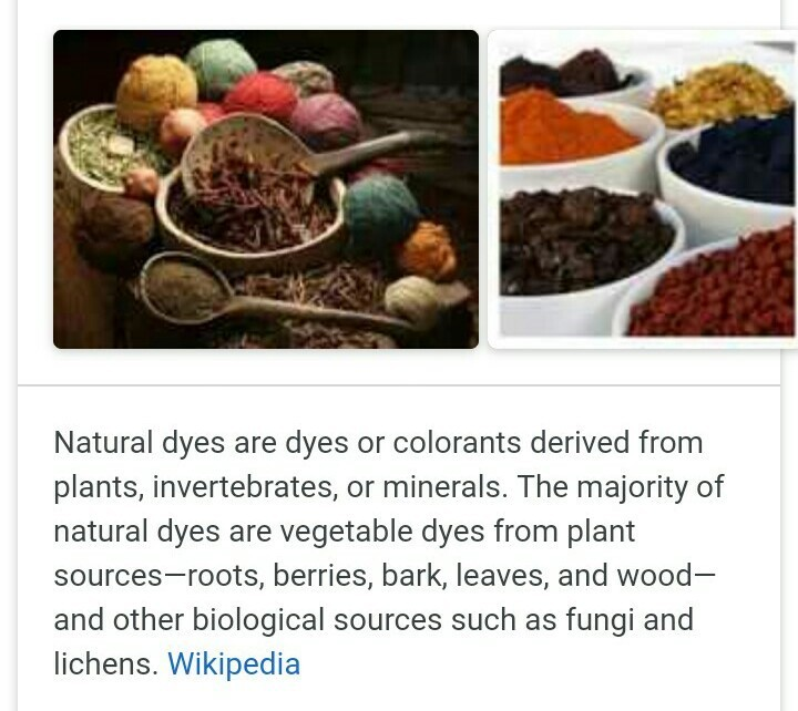 what are natural dyes? - Brainly in
