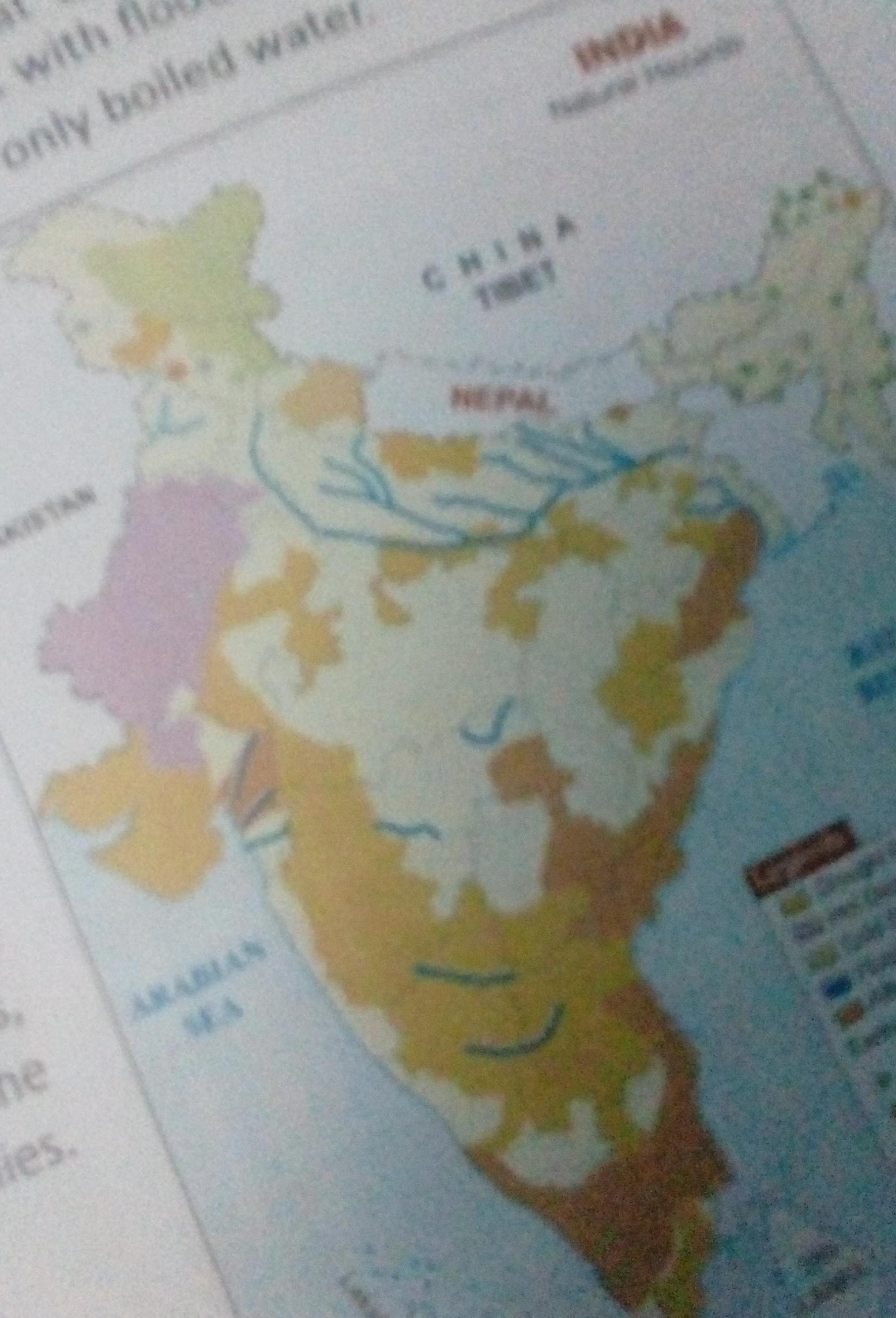Picture of: On Outline Map Of India Locate The Different Landforms Such As Mountain Plateau And Plains Brainly In