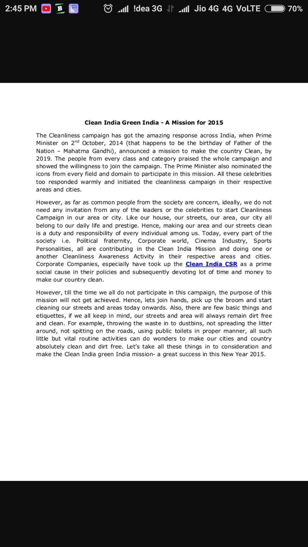 green india essay
