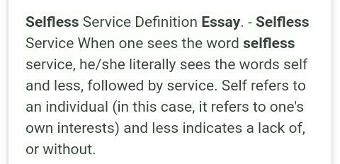 essay on selflessness   brainlyin download jpg