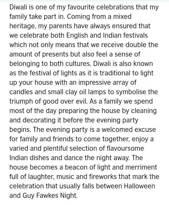 birthday celebration essay