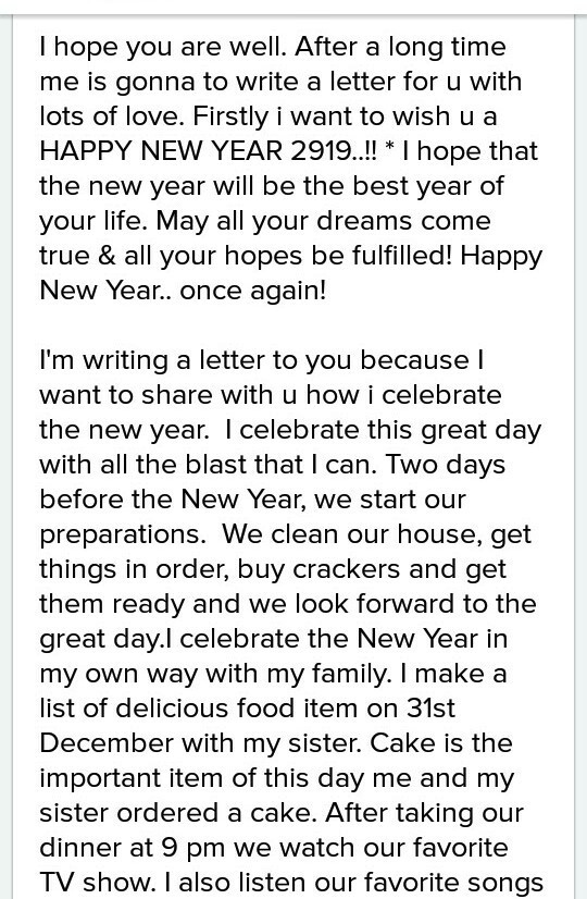 Happy New Year Letter 47