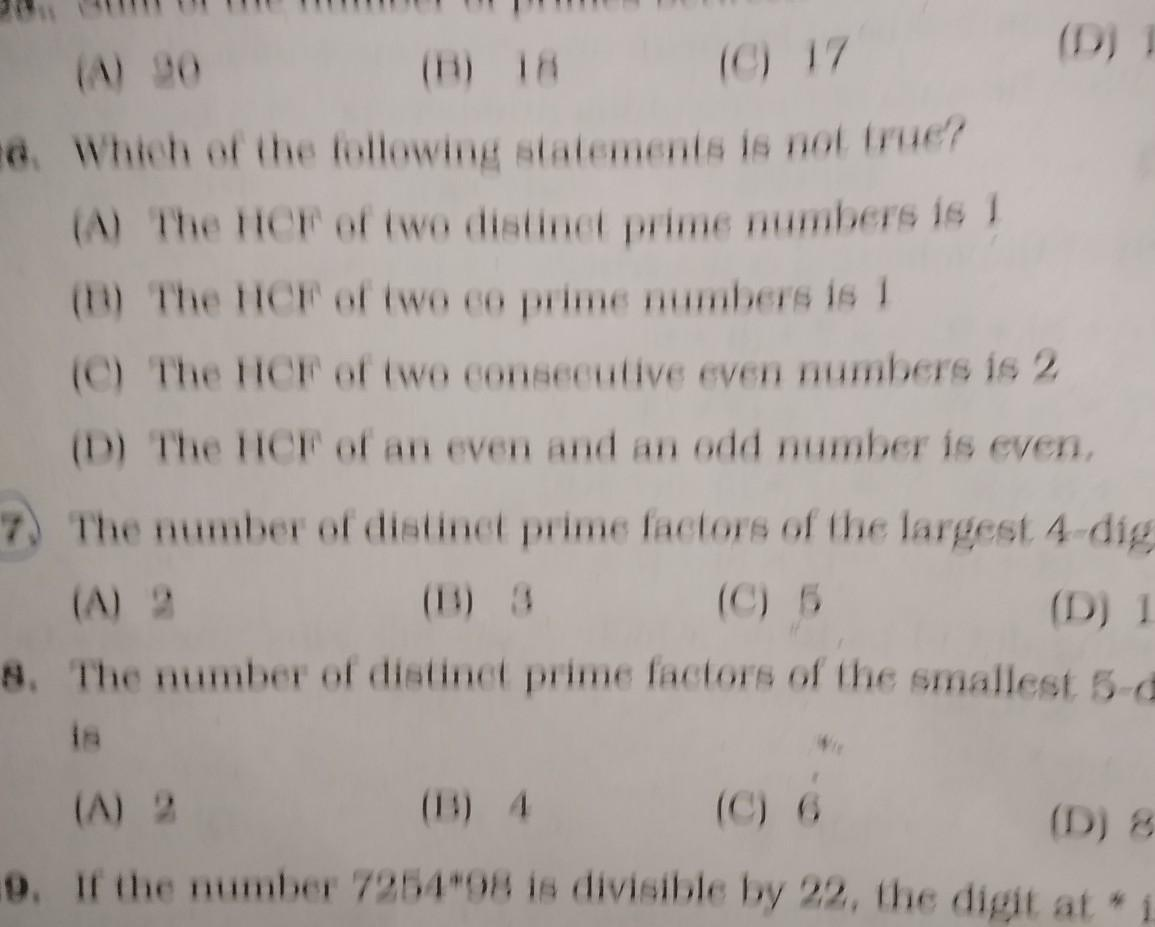 The Number Of Distinct Prime Factors Of The Largest 4 Digit Number Brainly In