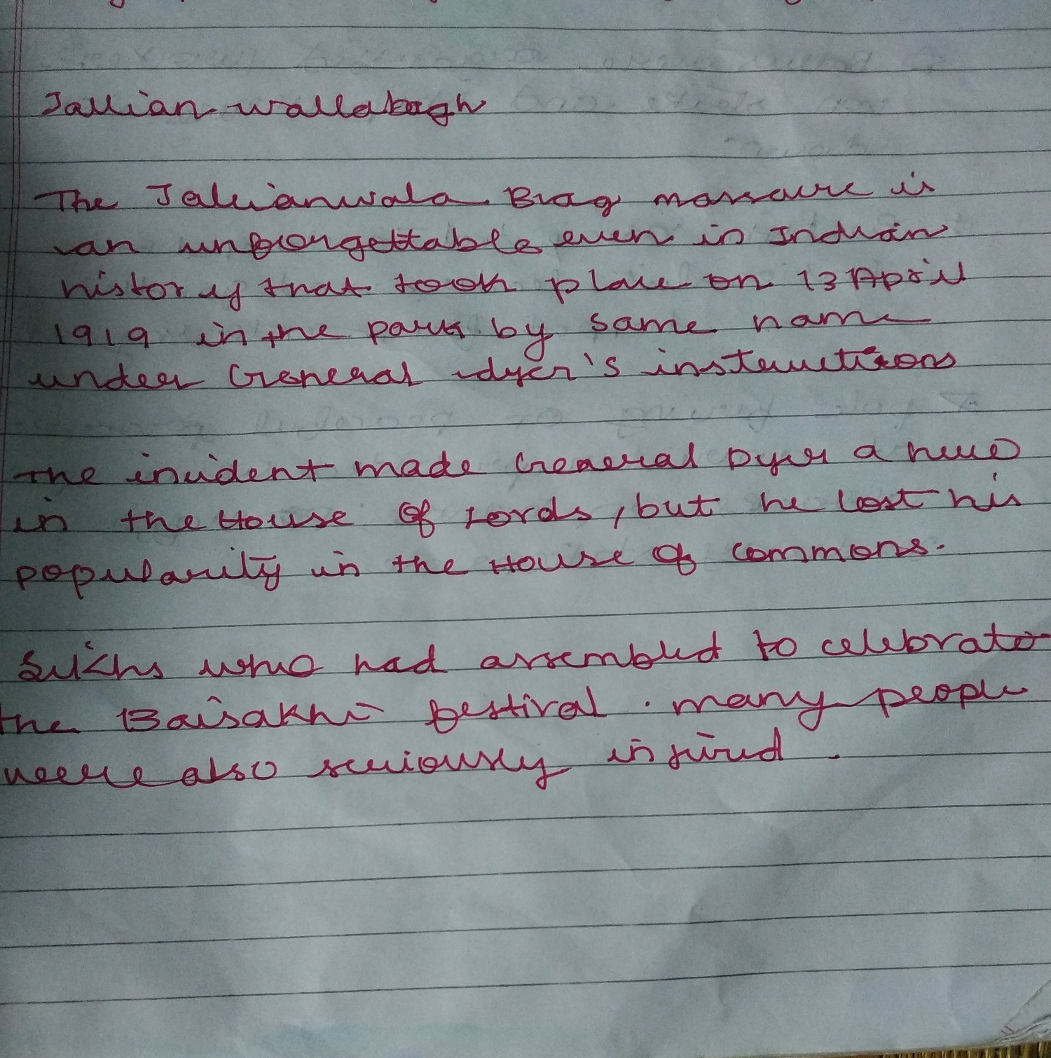 short note on jallianwala bagh tragedy