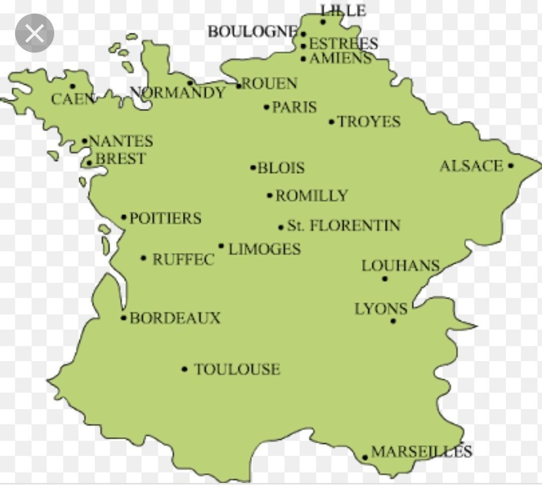 Versailles Map Of France.Where To Locate Normandy Versailles Paris Brest Nantes Bordeaux