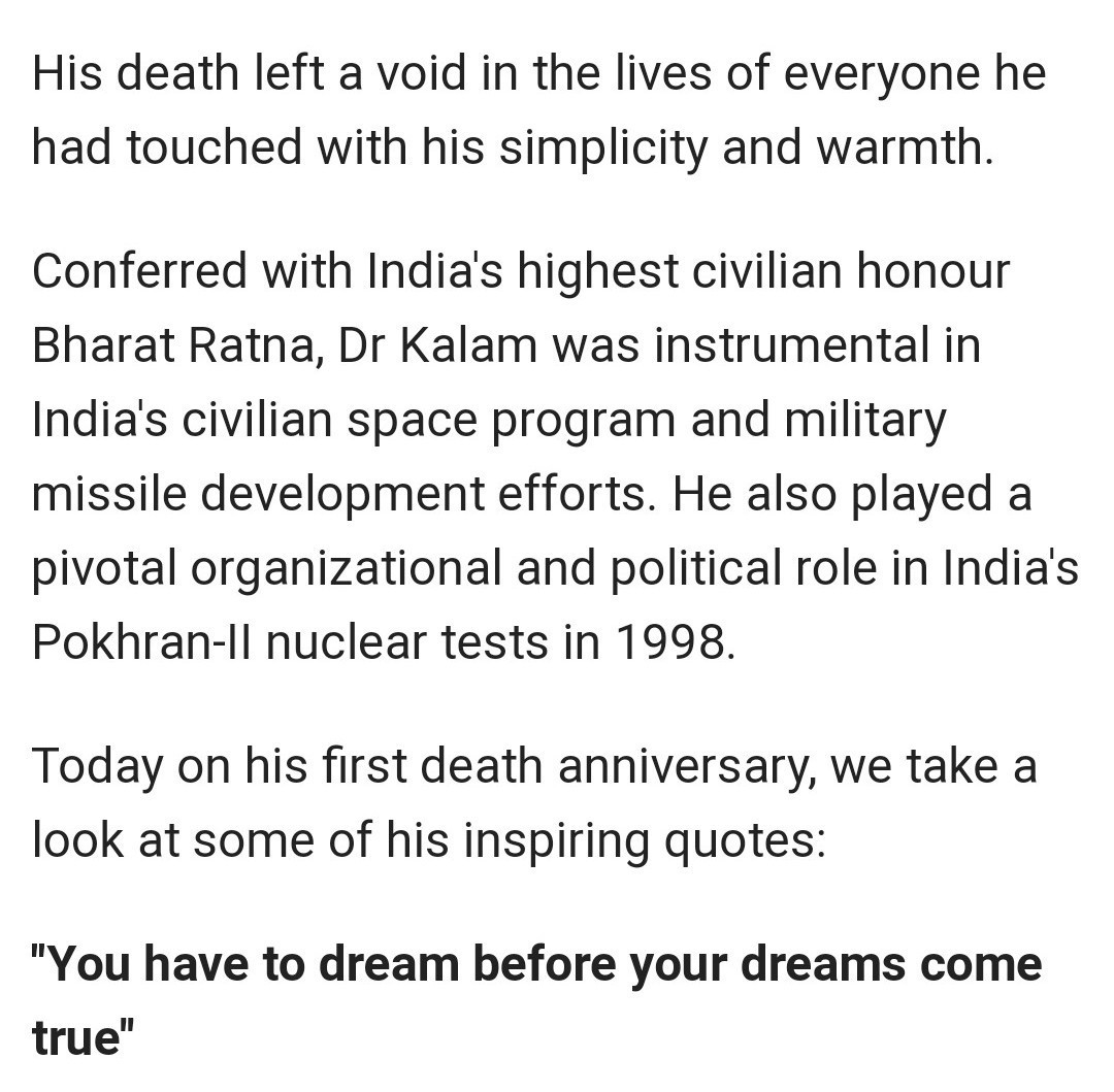 about abdul kalam in english